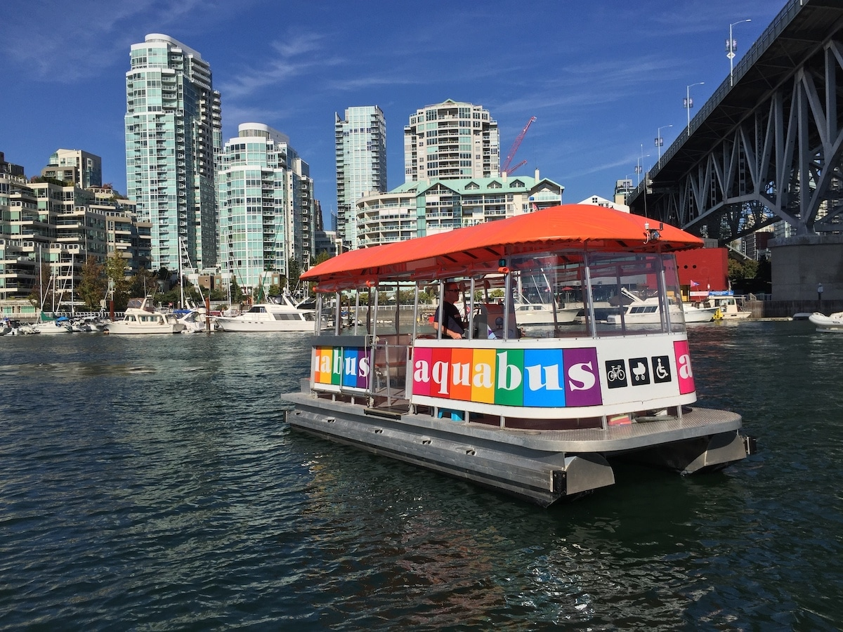 Aquabus on the water Vancouver's harbor