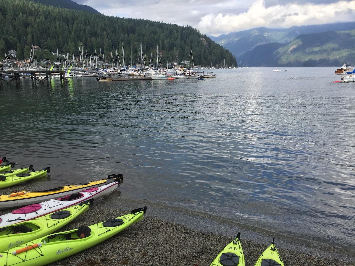 Kayaks for rent at Deep Cove | Photo: Carolyn Heller