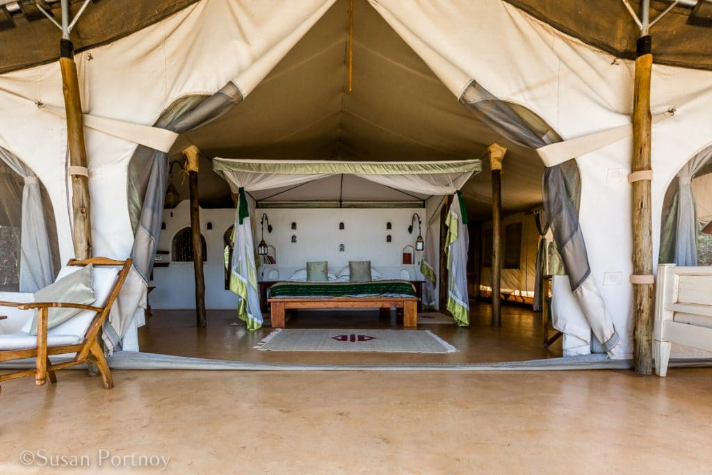 Joy's Camp tent -- An African Safari is it Right for You? A Guide to an Ultimate Dream Holiday --The Insatiable Traveler