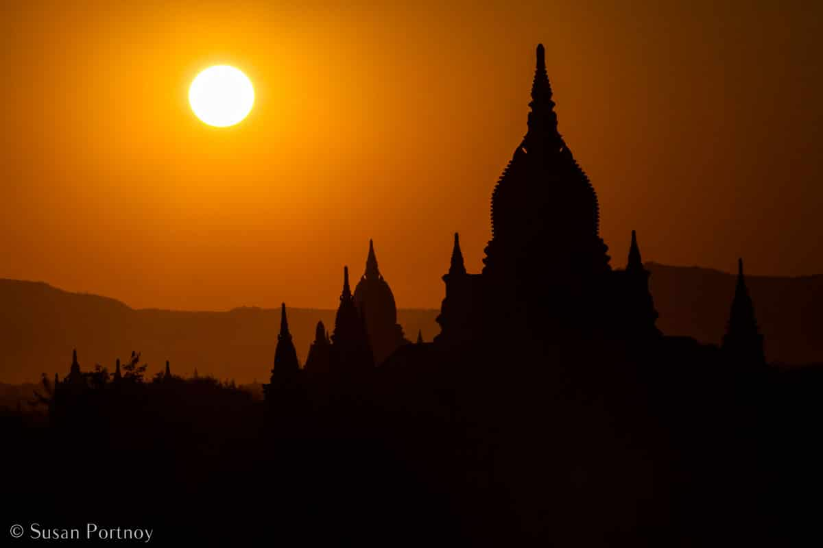 Stunning Silhouette Photos Guaranteed to Inspire Your Travels- A gorgeous temple at sunset in Old Bagan, Myanmar