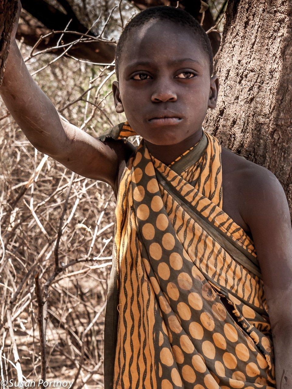 Young Hadzabe girl in Tanzania