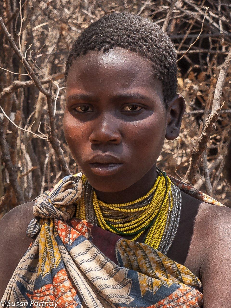 Older Hadzabe girl in Tanzania
