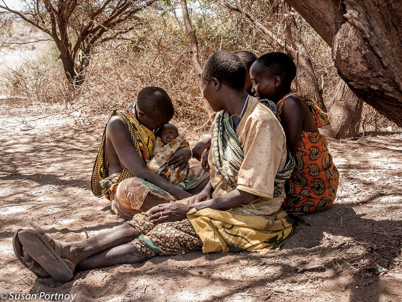 Hadzabe women in Tanzania