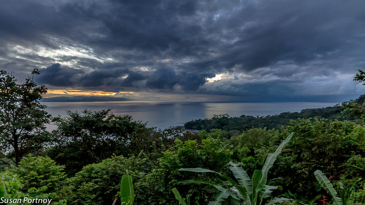 Sunrise in Costa Rica from my Bungalow