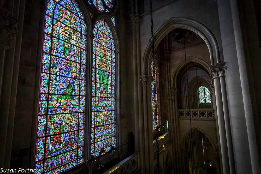 The spectacular view from one of the many buttresses in the Cathedral of St. John the Divine.