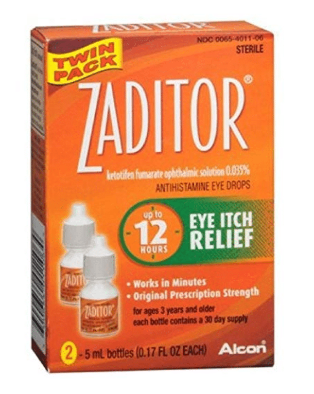 Zaditor Antihistamine Eye Drops Twin Pack 0.34 Fl oz