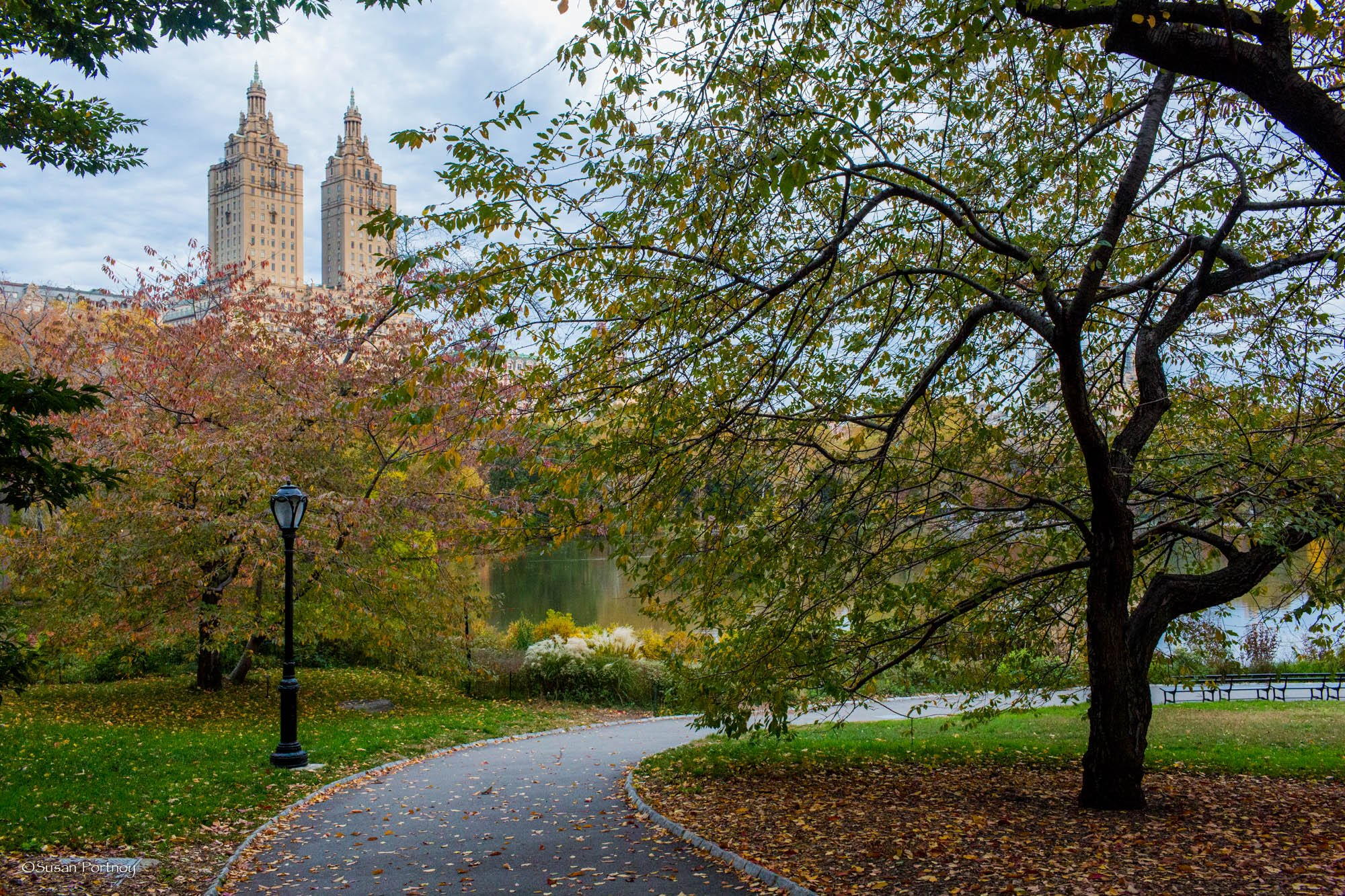 Walkway at the beginning of Cherry Hill in Central Park in NYC