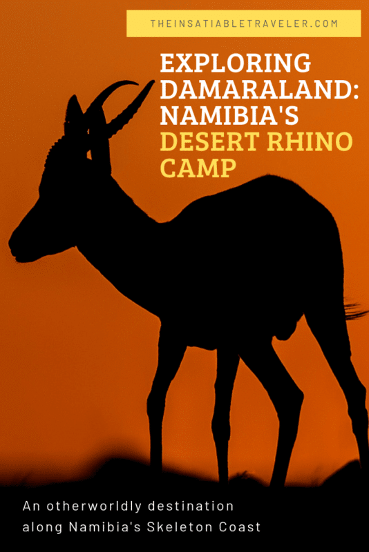 What it's like to stay at Desert Rhino Camp and explore Damaraland, an otherworldly destination in the heart of Namibia's Skeleton Coast.