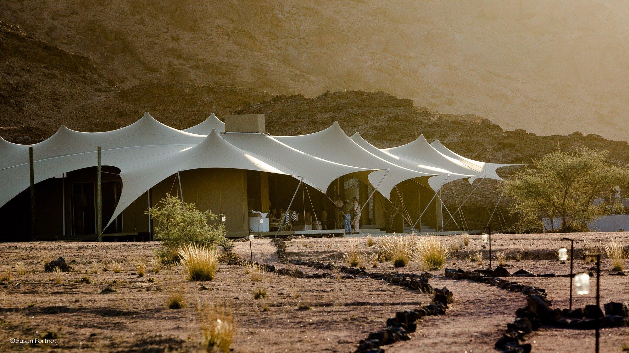 Main Tent at Haonib Skeleton Coast Camp, Namibia