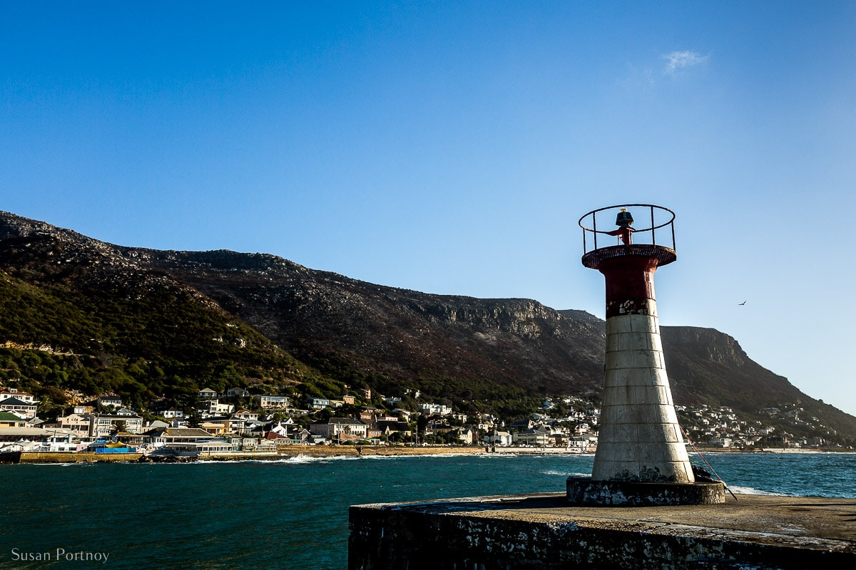 A view of Kalk Bay from the jetty lighthouse