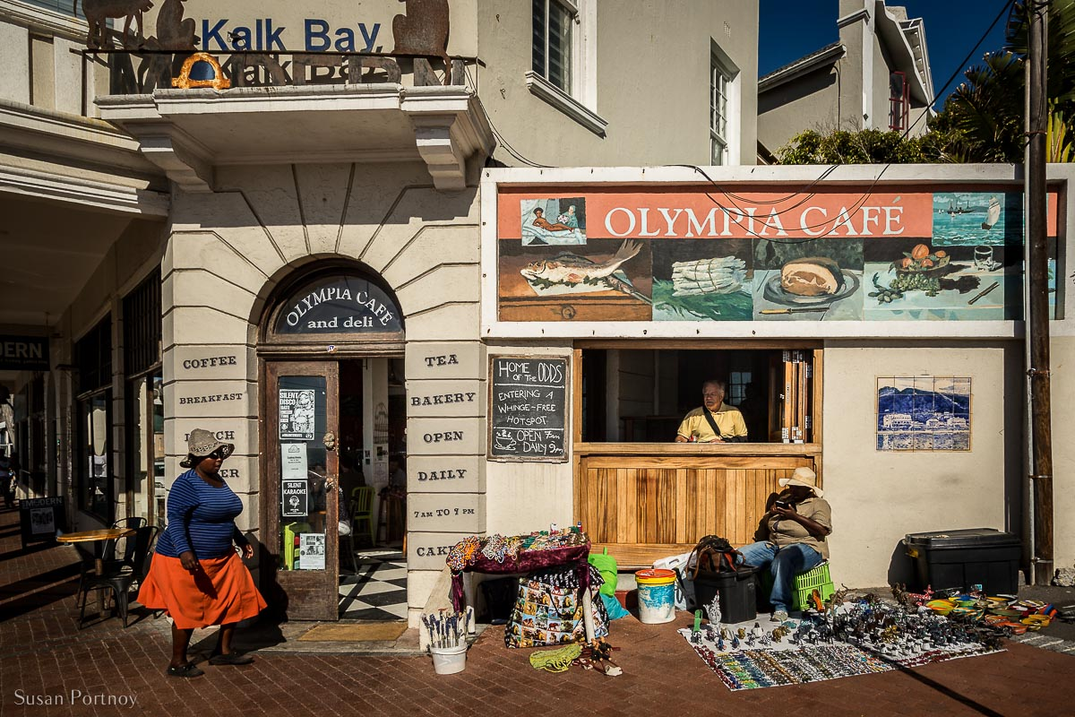 the front of Olympic Cafe in Kalk Bay, South Africa