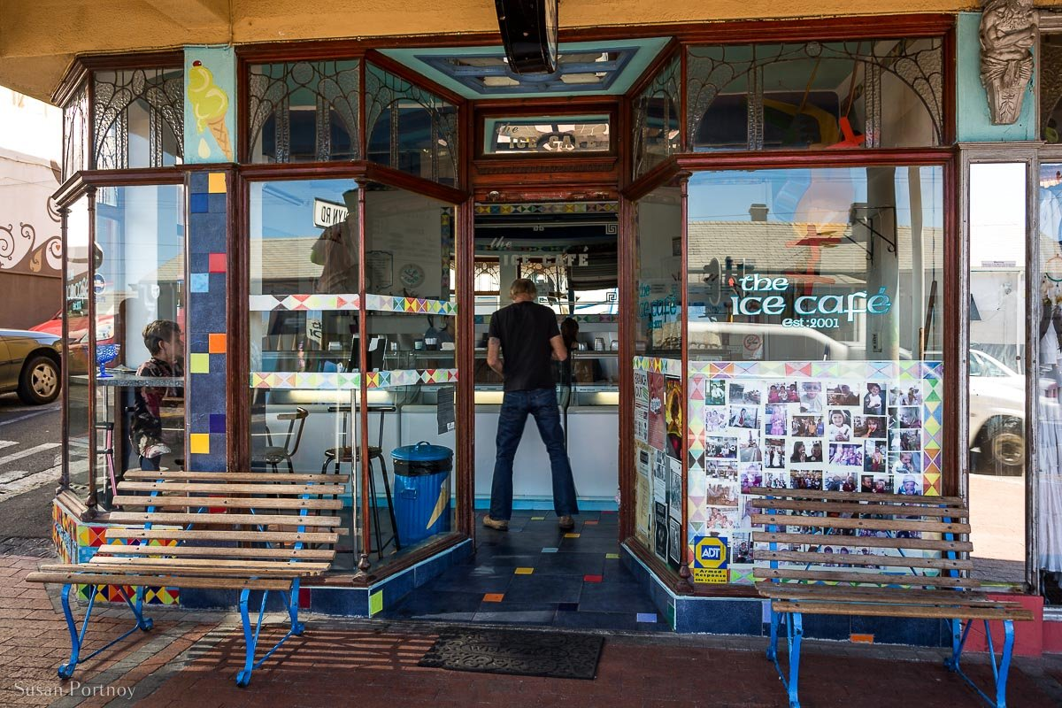 Front of the Ice Cafe in Kalk Bay