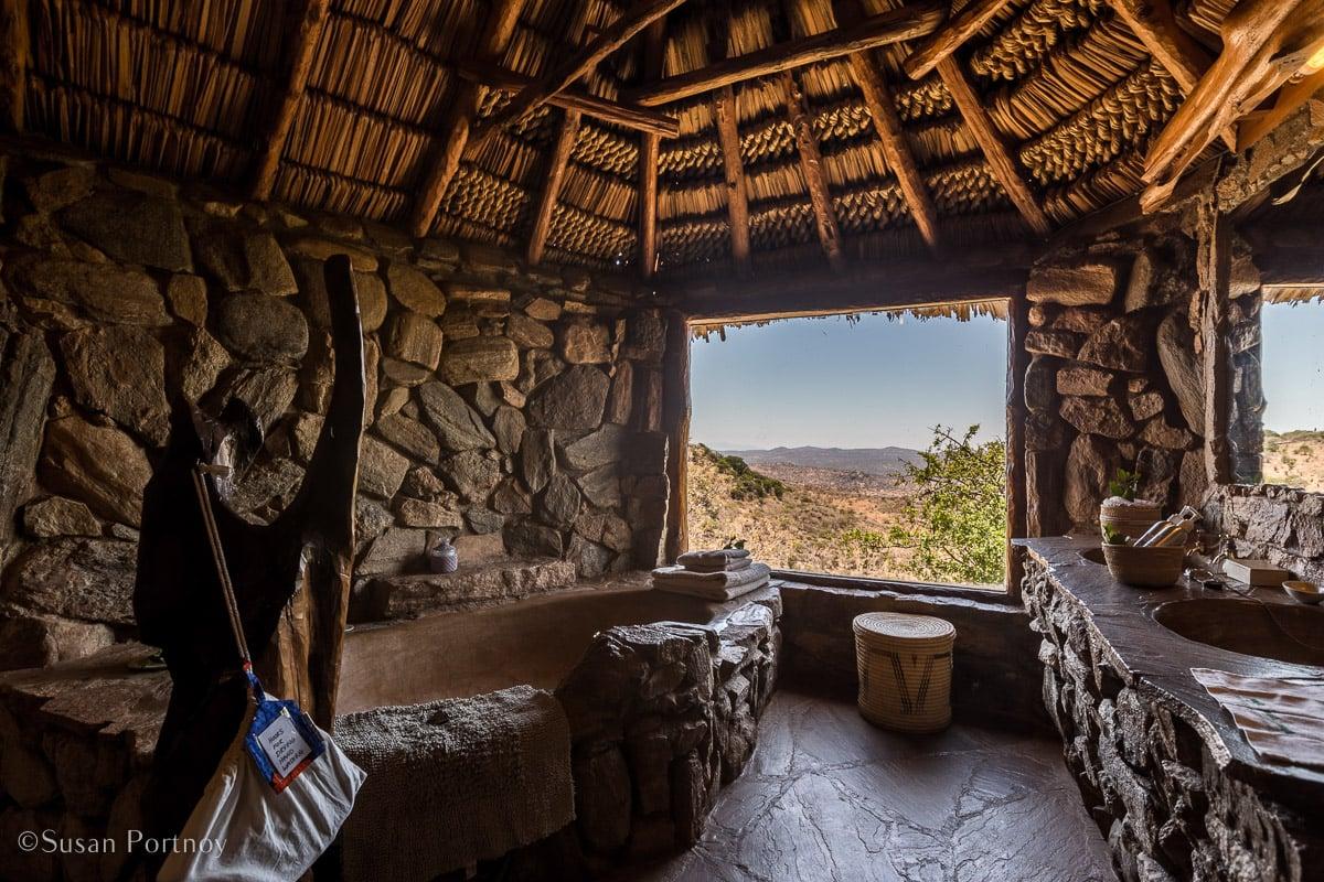 Ol malo bathroom - Luxury room at ol malo overlooking the Laikipia Plateau -Kenya Safari Lodges with Spectacular Views --3