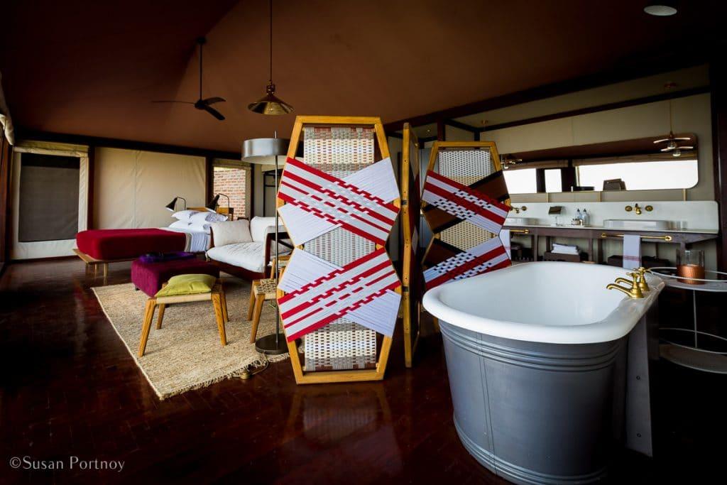 Angama Mara interior of a luxury Tent - Kenya Safari Lodges with Spectacular Views -8202