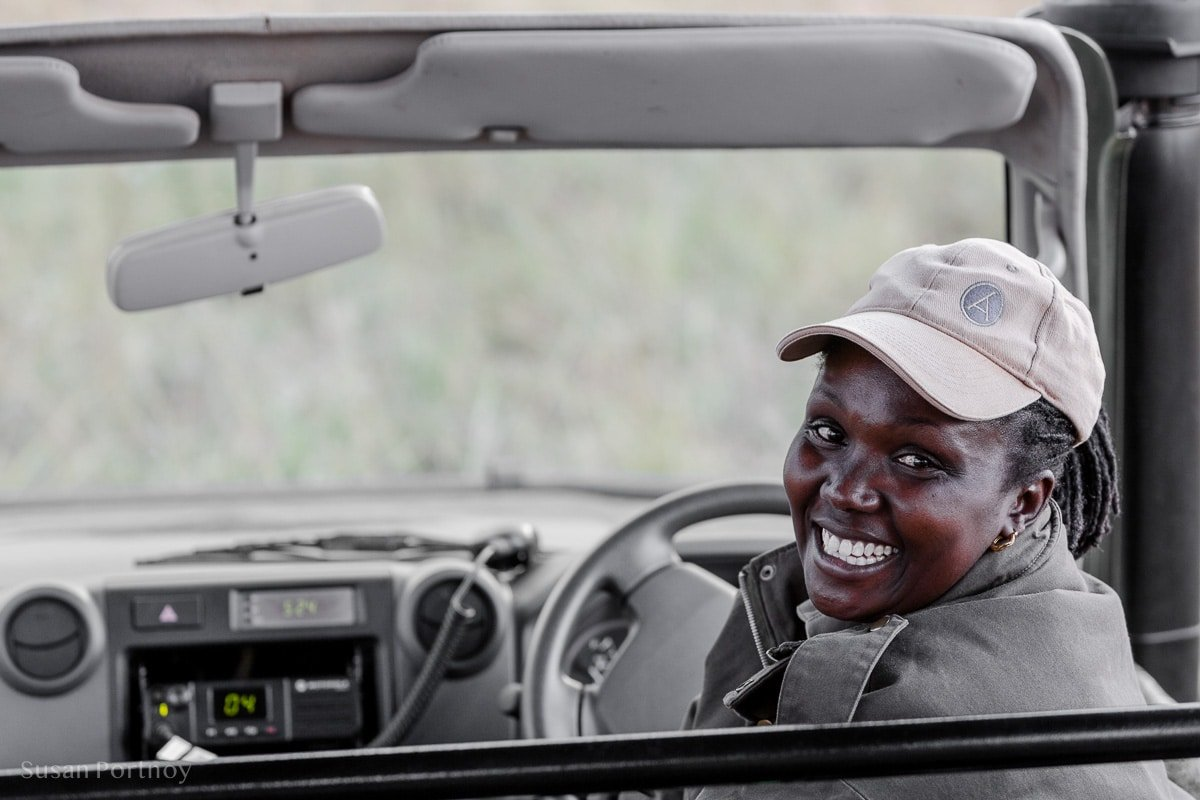 Alice, one of the few female guides in Kenya, at Angama Mara