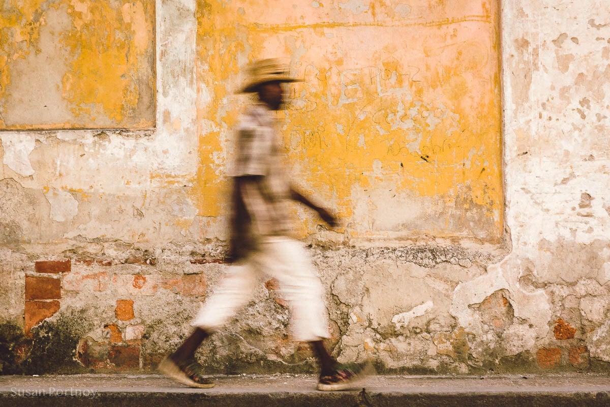 Man walking in Old Havana