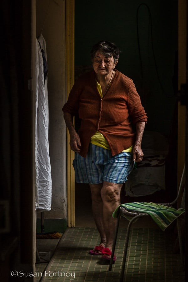 Photographing Maria Theresa in her apartment in Havana Cuba