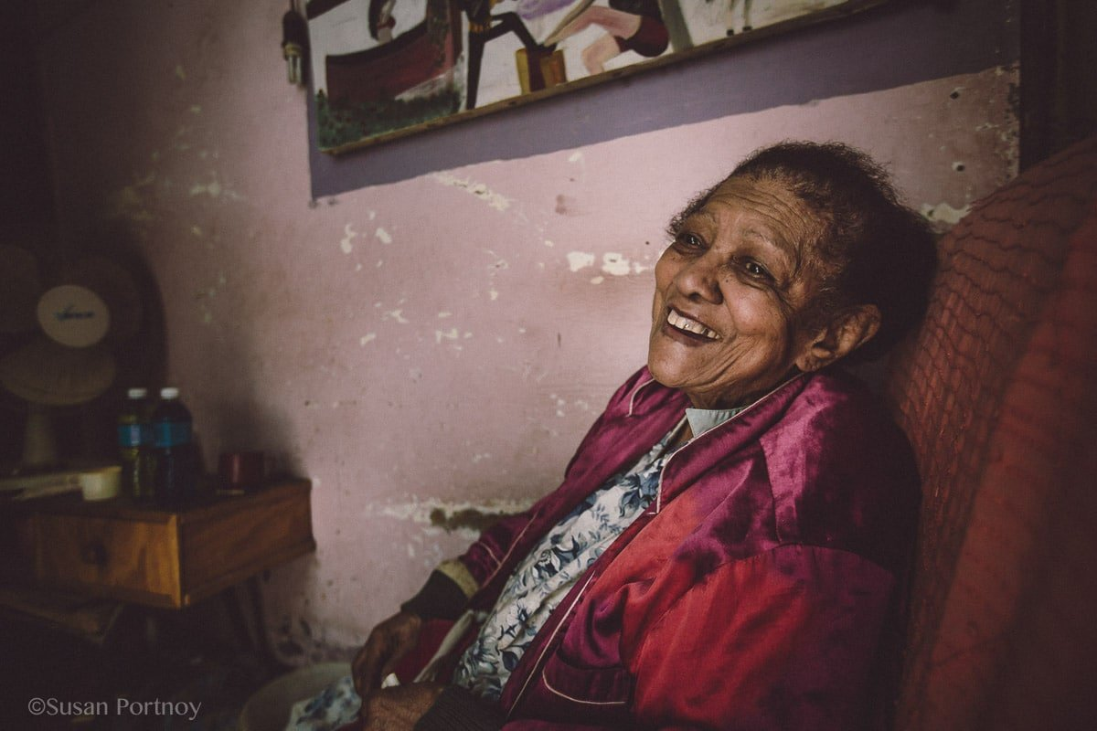 Portrait of a Cuban woman in Havana