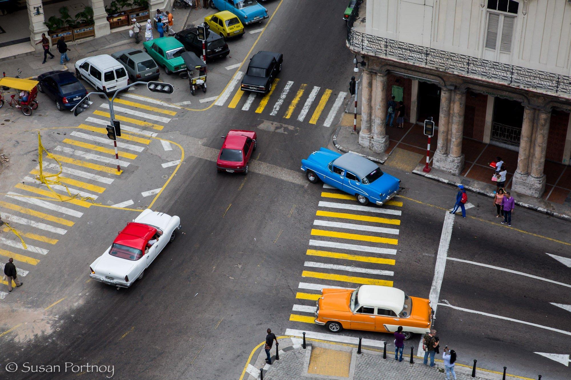 Colorful classic cars in Havana, Cuba