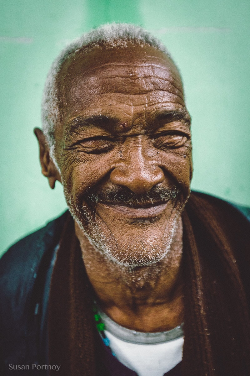 Photographing travel portrait of Man in Cuba