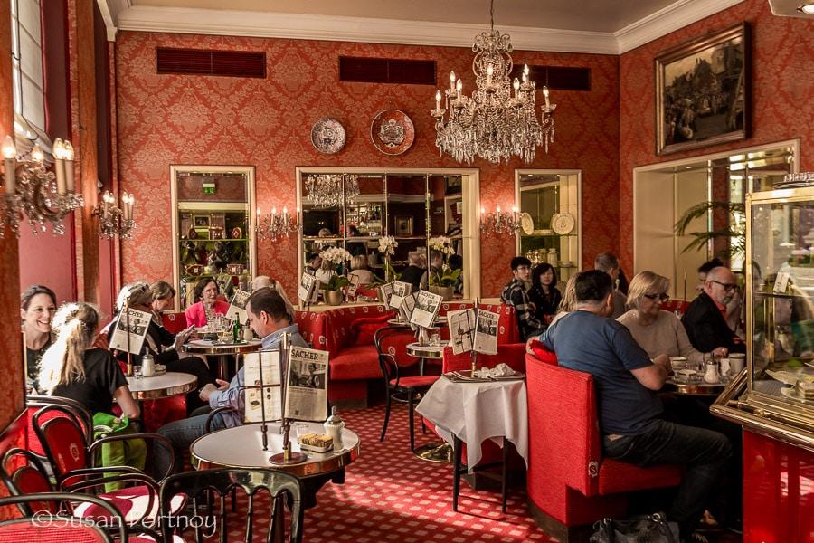 Photographing Sacher hotel in Vienna, Austria