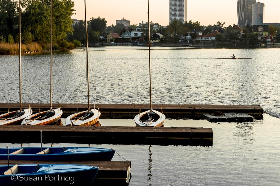 Photographing the marina at the Danube in Vienna, Austria
