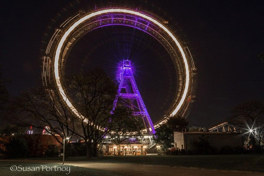 Photographing the Ferris Wheel in Vienna, Austria