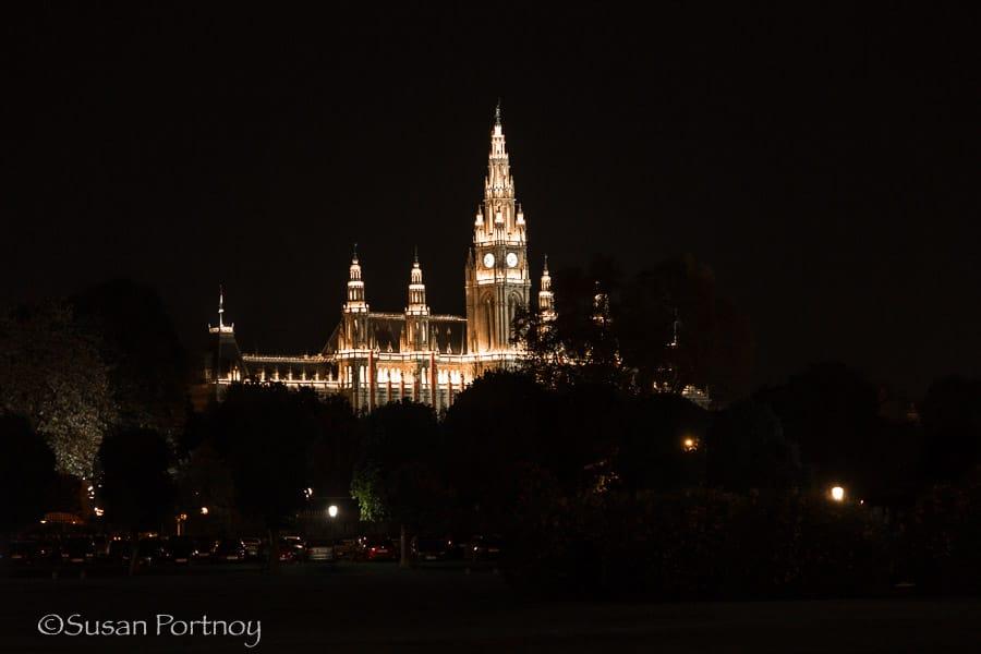 Photographing Parliament building in Vienna, Austria