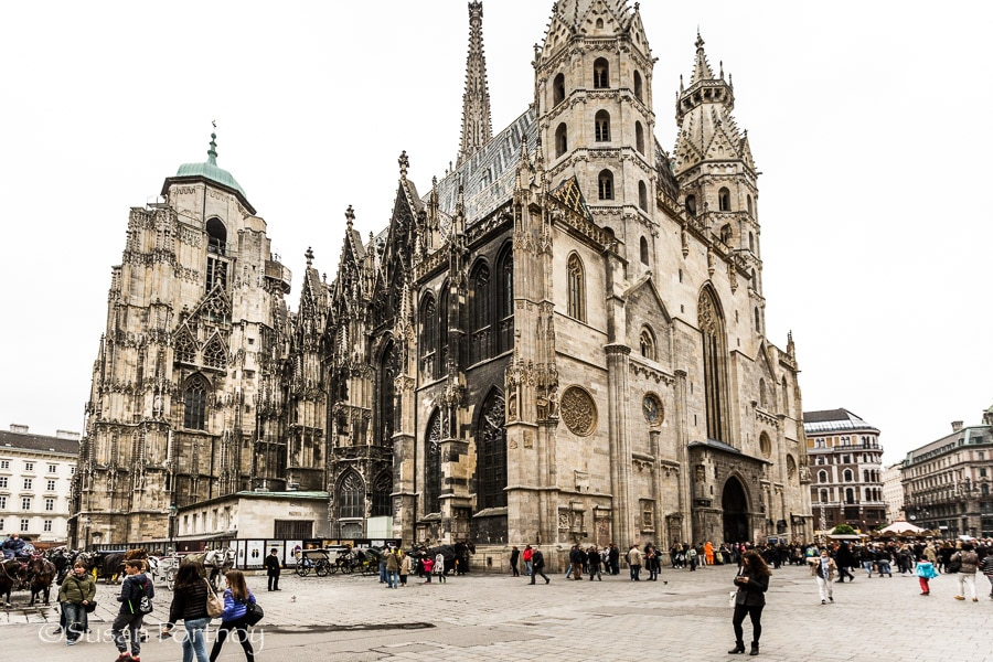 Photographing St. Stephen's Cathedral in Vienna, Austria
