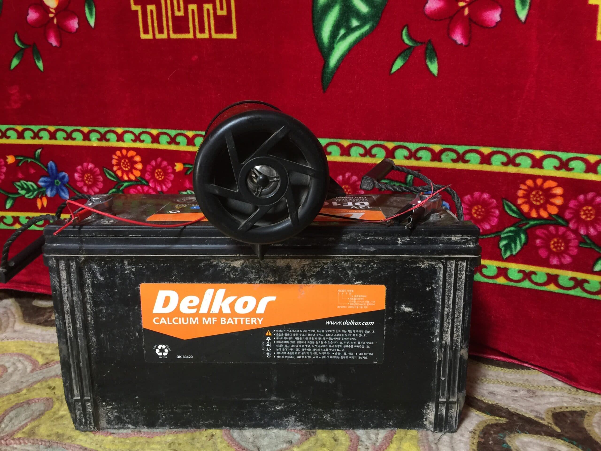 smartphone and battery sound system used during the Kazakh Mongolian Dance Party - The Insatiable Traveler