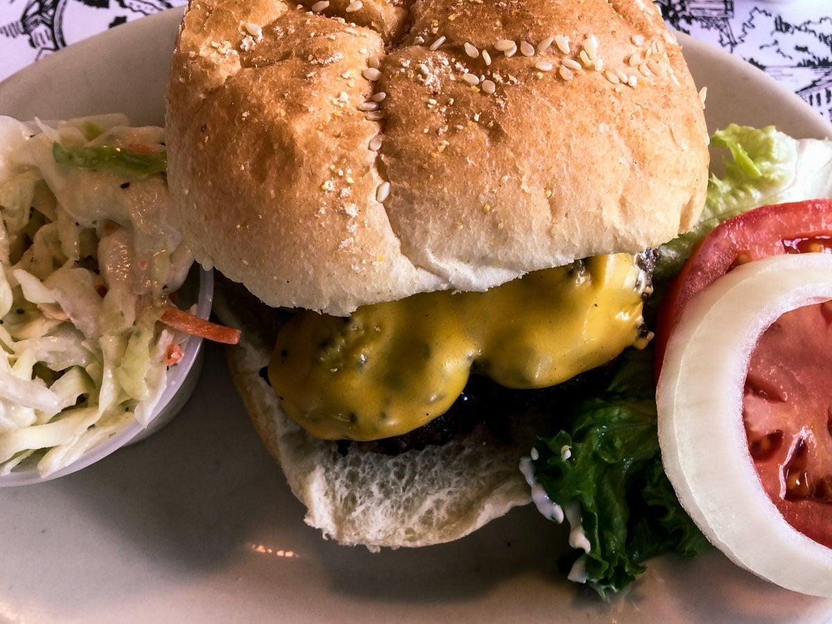 Hamburger at the Cabbage Key on Cabbage Key