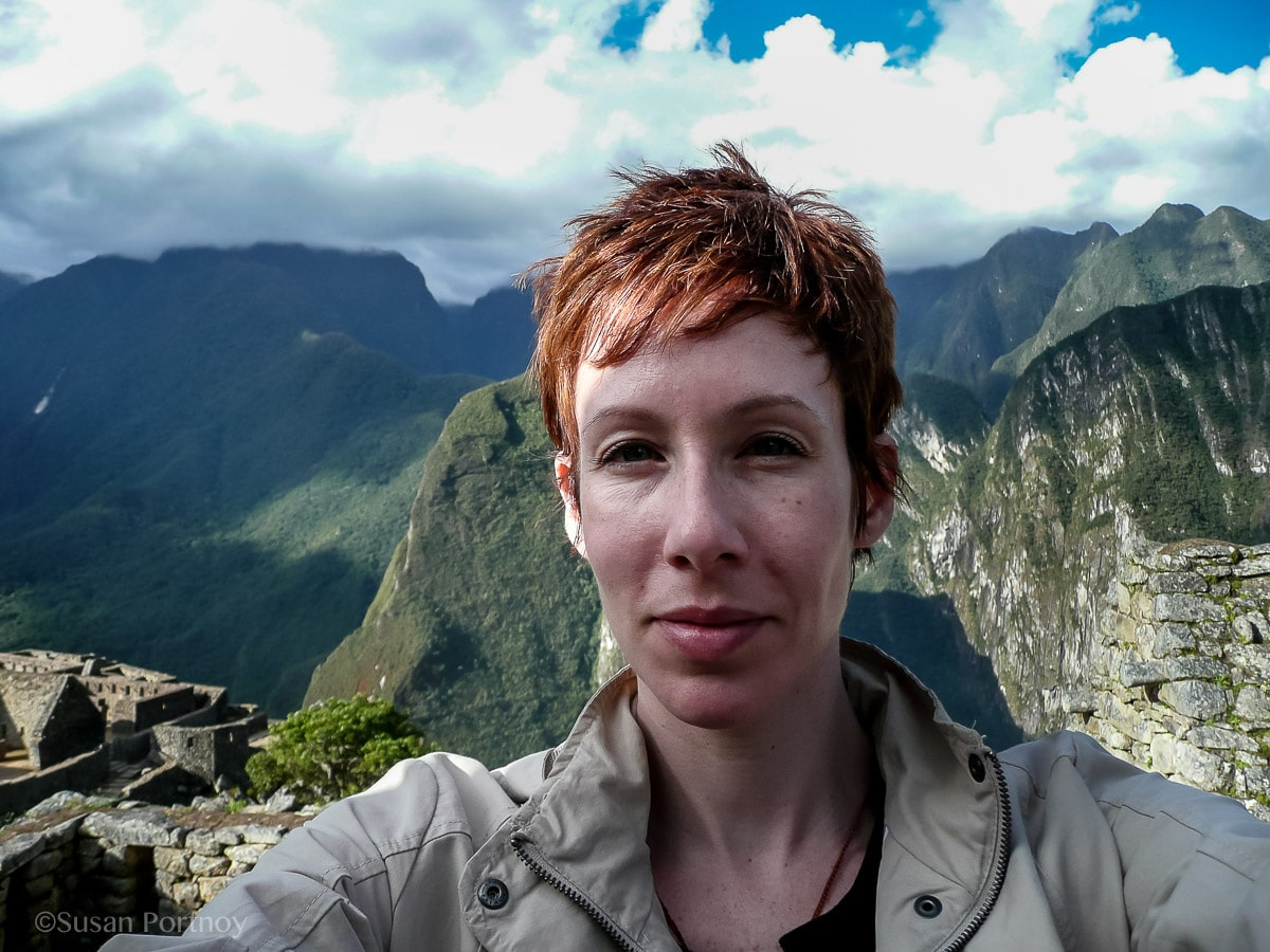Susan Portnoy, The Insatiable Traveler at Machu Picchu. My first time traveling alone.