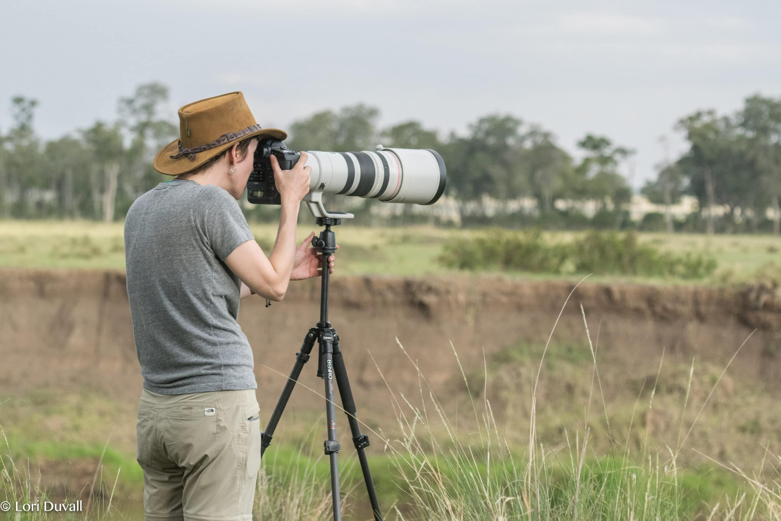 Susan Portnoy photographing in Africa
