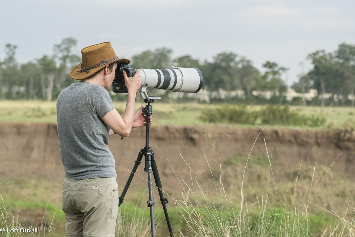 Susan Portnoy photographing in Africa -Taking Bad Photos