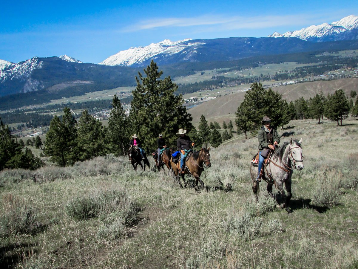 Riding on the CB ranch in Darby, Montana