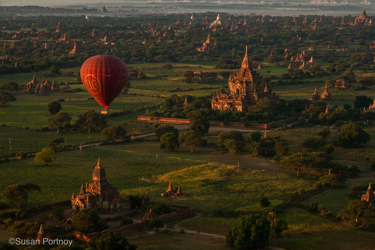 Hot air balloon ride over the temples of Bagan, Myanmar
