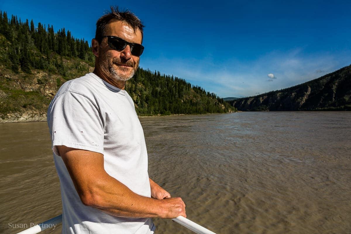 Brad Whitelaw on the upper deck of his Klondike Spirit Paddle Wheeler --Dawson City, the Heart of the Klondike Gold Rush-