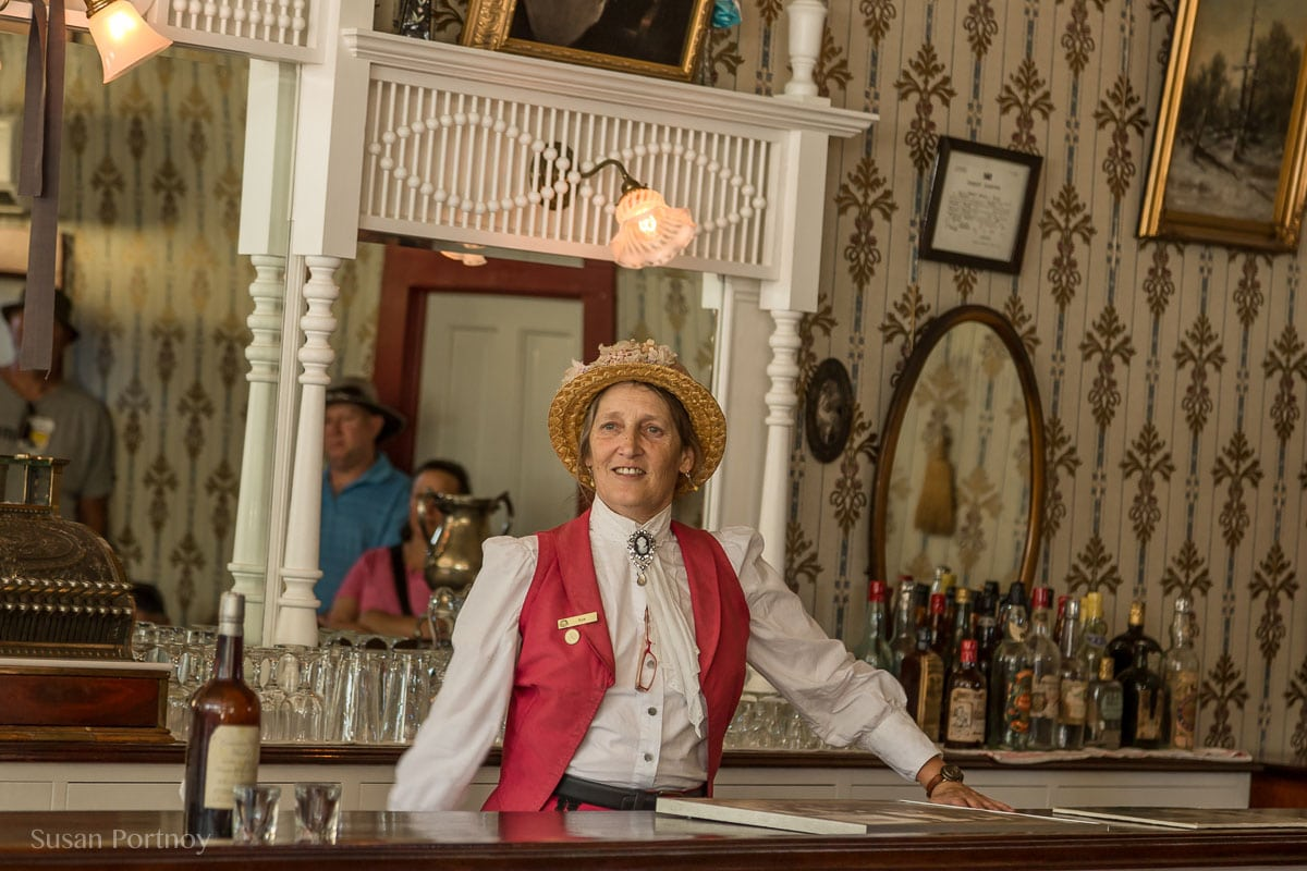 Sue Taylor, an interpreter with Parks Canada -Dawson City, the Heart of the Klondike Gold Rush