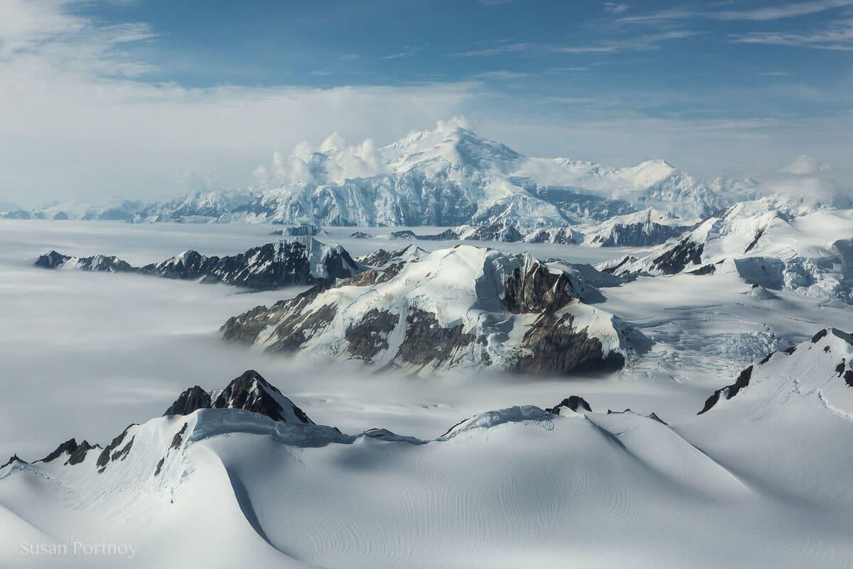 Mount Vancouver in the distance. --Kaskawulsh glacier in Yukon's Kulane National Park-1148