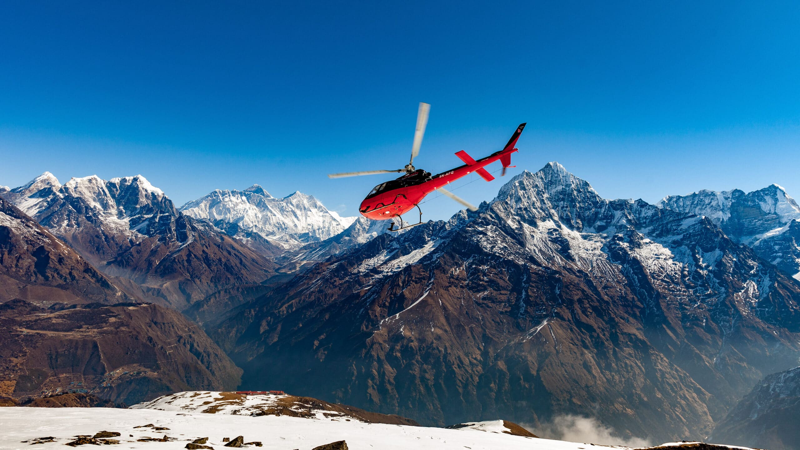 """""""Himalayas by Helicopter""""  8 Unique Winter Activities Worth Jumping on A Plane For"""