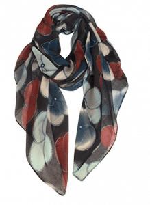 GERINLY Scarf Wrap Fashion Cozy Scarves Womens Floral Evening Shawls
