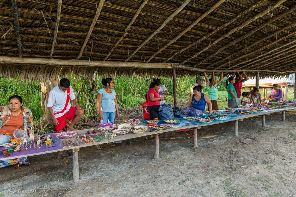 Souvenir shopping in the Amazon | Amazon River Cruise Peru -International Expeditions-01-11
