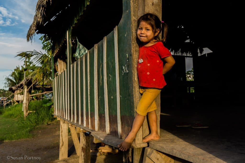 Little girl from an Amazon village | Amazon River Cruise Peru -International Expeditions-01-2