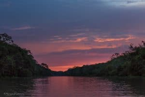 Sunset over the Amazon   6 Things to love about a luxury River Cruise on the Amazon -0987