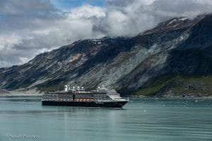 The Eurodam, the Westerdam's sister ship leaving Glacier Bay. - Lessons Learned on an Alaskan Cruise -398120180605