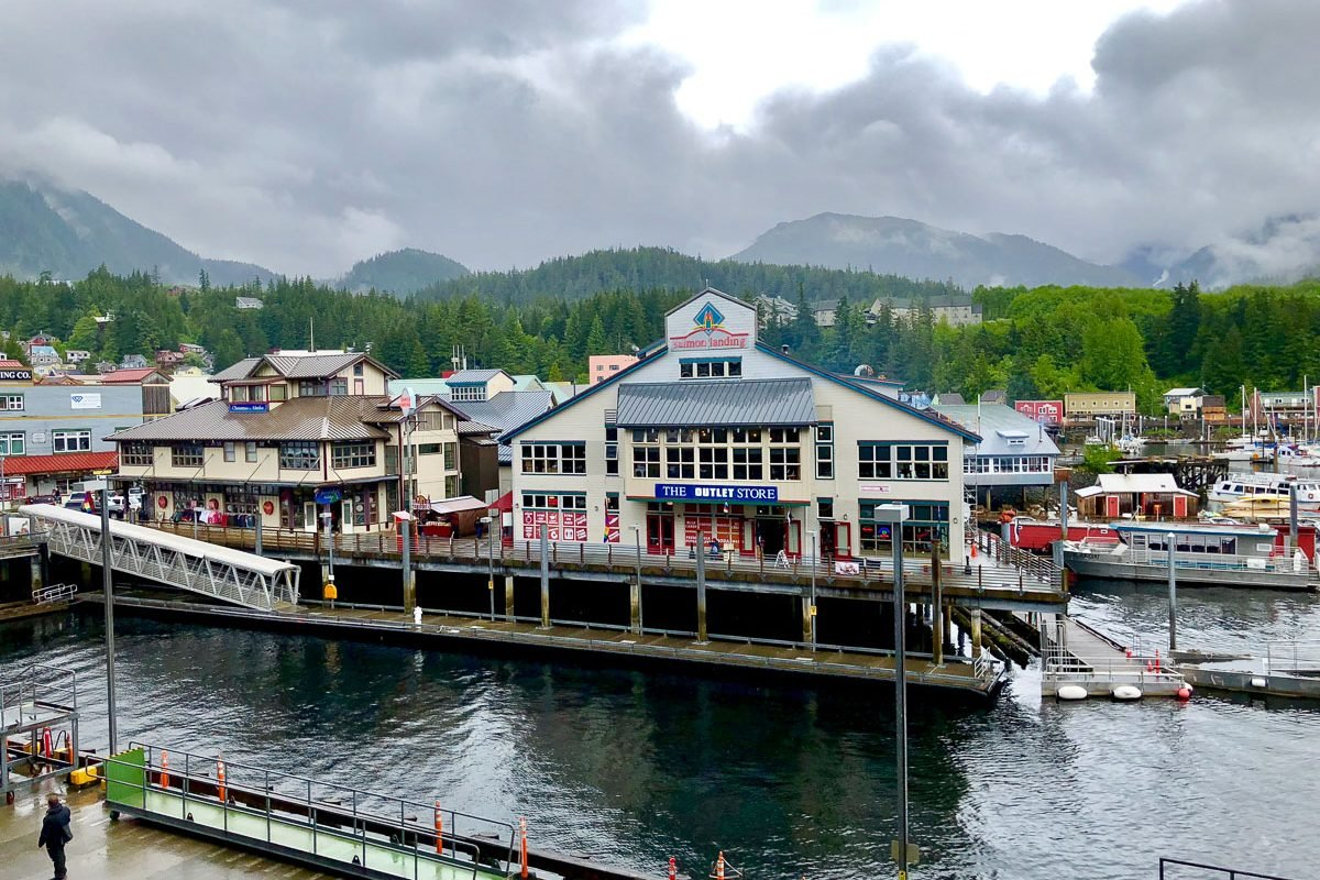 The Ketchikan harbor seen from the Westerdam. - Lessons Learned on an Holland America Alaskan Cruise
