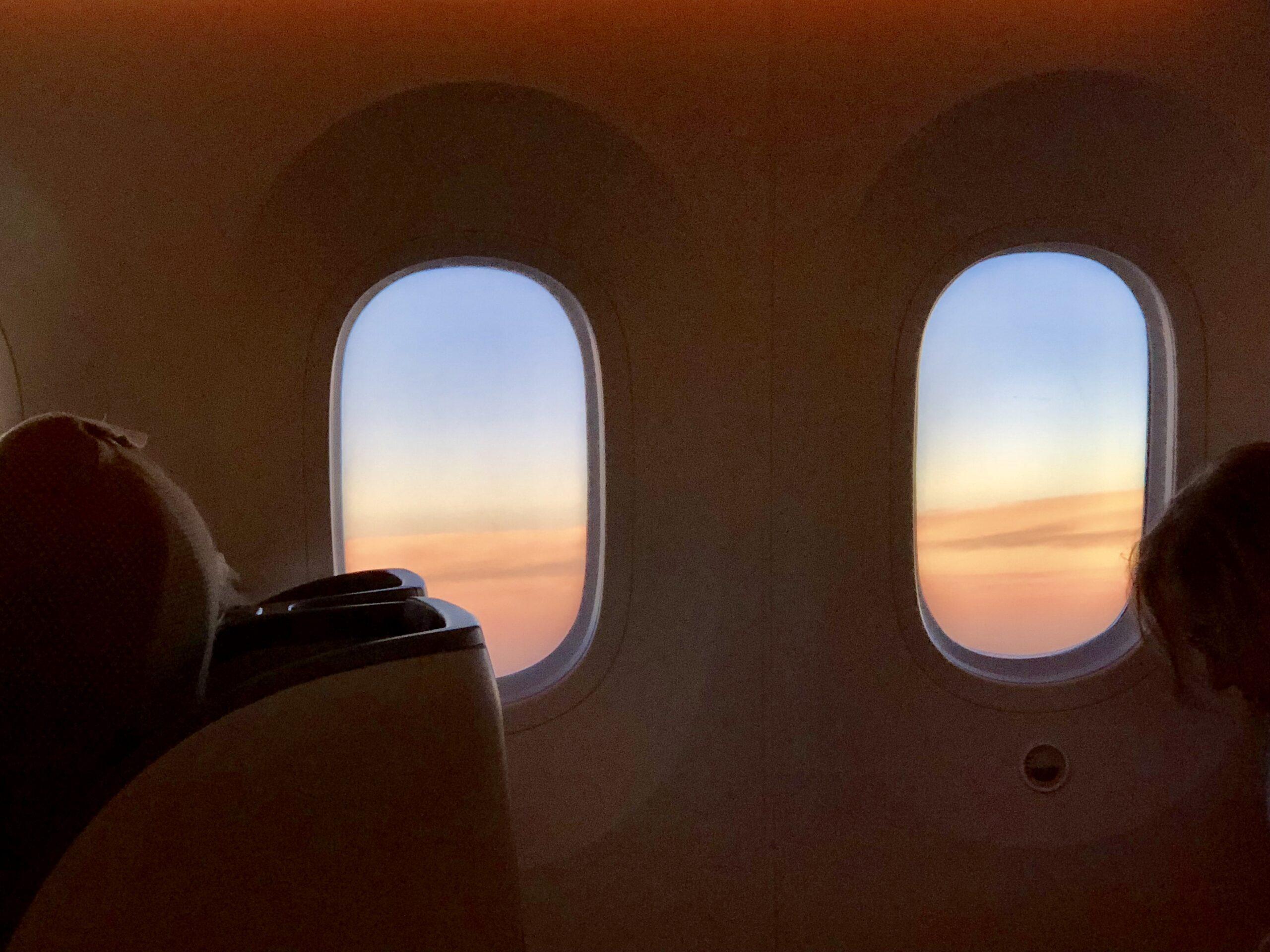 The Windows on the inaugural flight of Kenya Airways JFK to Nairobi