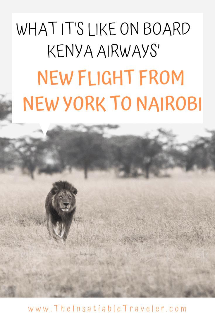 Kenya Airways New direct flight from New York (JFK) to Nairobi