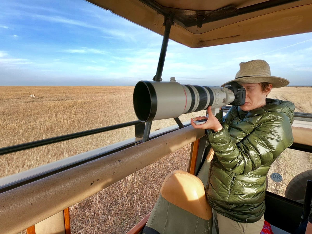 Susan Portnoy The Insatiable Traveler using the Canon 200 - 400 mm x 1.4