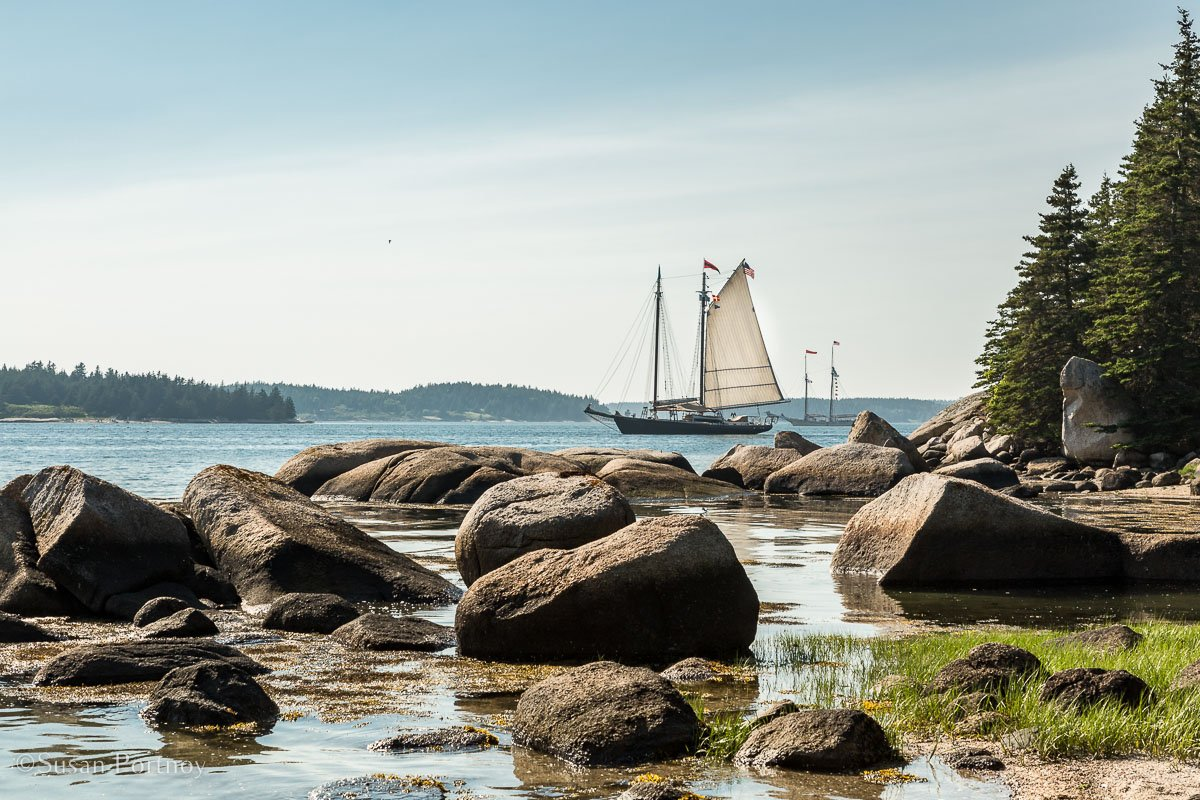 The J & E Riggin from McGlatherly Island - Windjammer cuise in Maine-620620180704